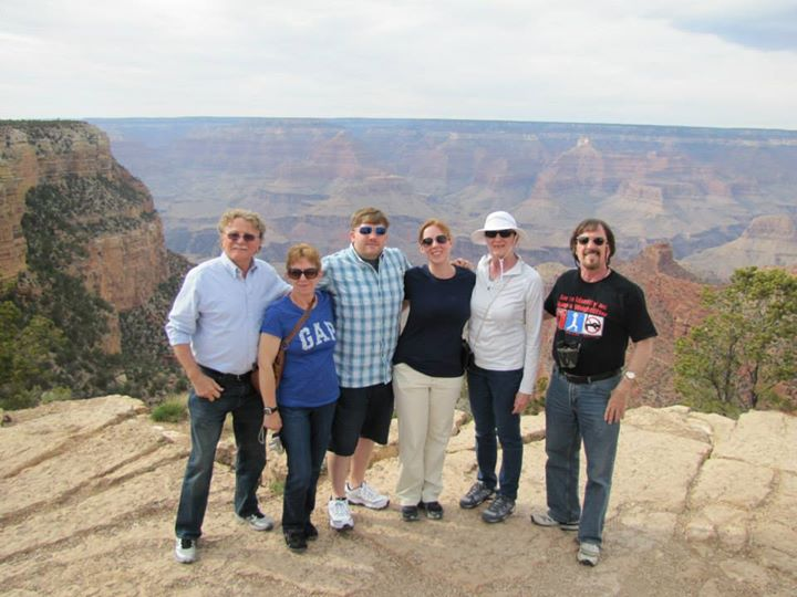 The whole family at the Canyon